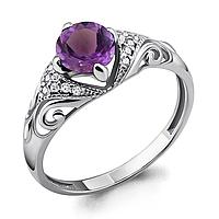 Серебряное кольцо с аметистом AQUAMARINE (#700151)