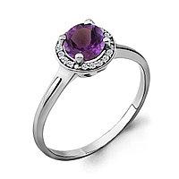 Серебряное кольцо с аметистом AQUAMARINE (#690090)
