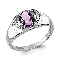 Серебряное кольцо с аметистом AQUAMARINE (#706685)