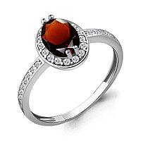Серебряное кольцо с гранатом AQUAMARINE (#447931)