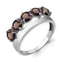 Серебряное кольцо с кварцем и раухтопазом AQUAMARINE (#687287)
