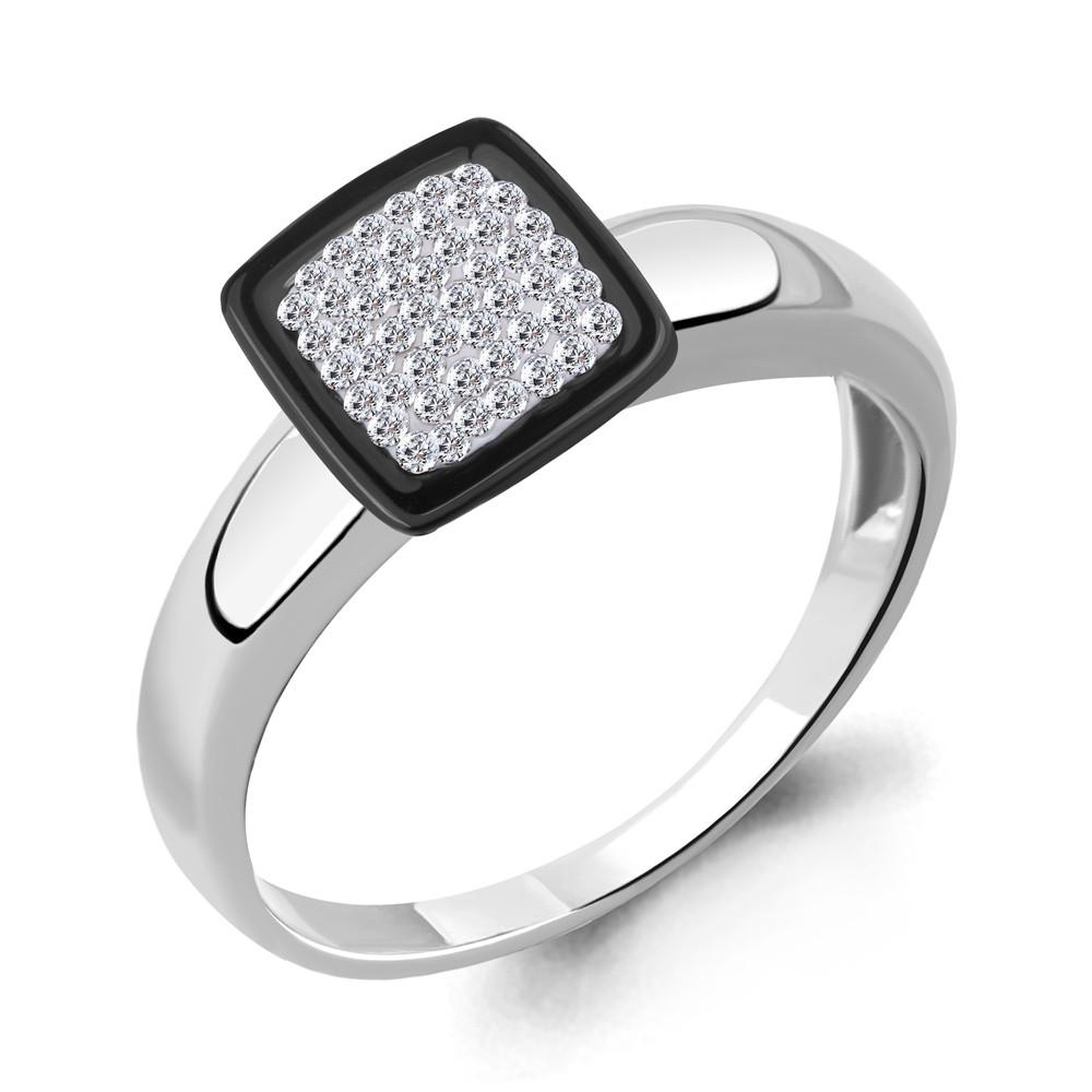 Серебряное кольцо с керамикой AQUAMARINE (#690017)