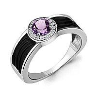 Серебряное кольцо с керамикой и аметистом AQUAMARINE (#700281)