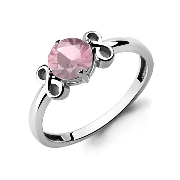 Серебряное кольцо с стеклом AQUAMARINE (#687057)