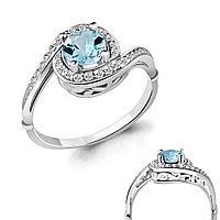 Серебряное кольцо с топазом AQUAMARINE (#708941)