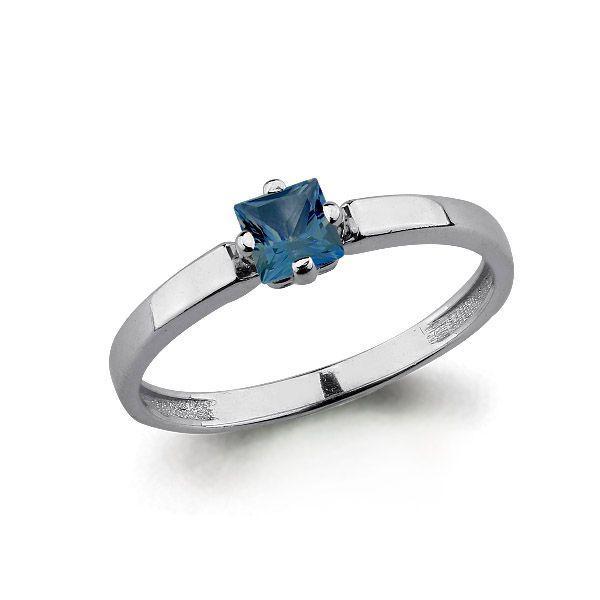 Серебряное кольцо с топазом лондон AQUAMARINE (#697743)