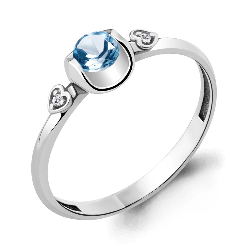 Серебряное кольцо с топазом свисс AQUAMARINE (#706510)