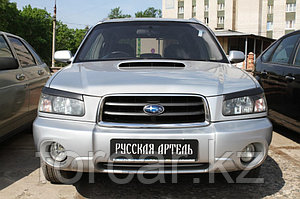 Накладки на передние фары (реснички) Subaru Forester 2002-2005