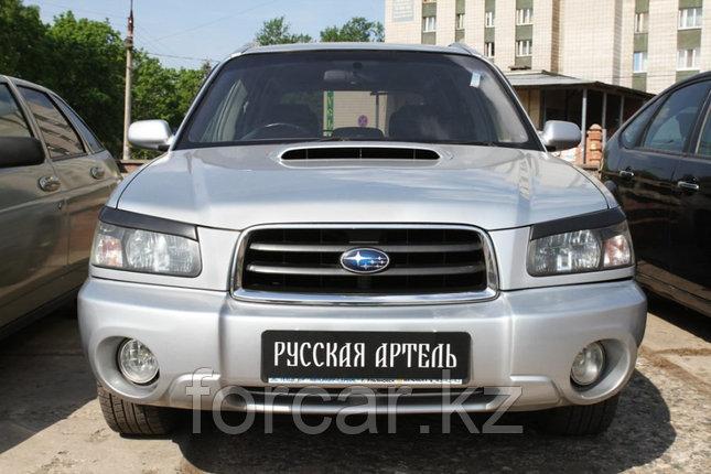 Накладки на передние фары (реснички) Subaru Forester 2002-2005, фото 2