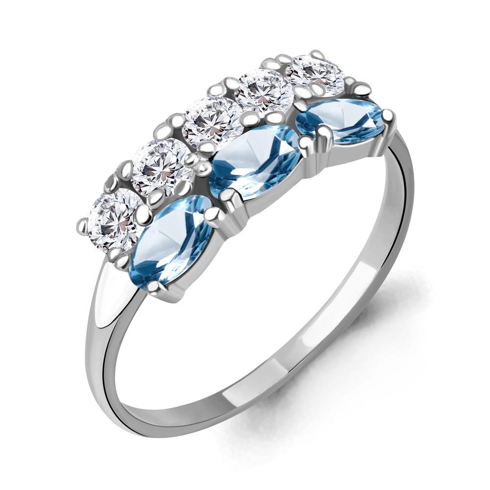 Серебряное кольцо с топазом свисс AQUAMARINE (#712943)