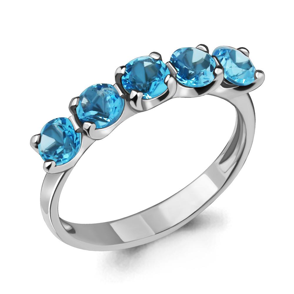 Серебряное кольцо с топазом свисс AQUAMARINE (#410023)