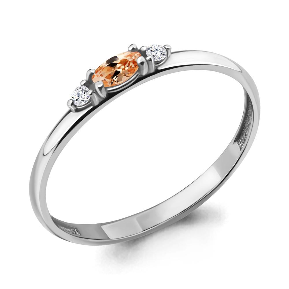 Серебряное кольцо с фианитом AQUAMARINE (#703758)