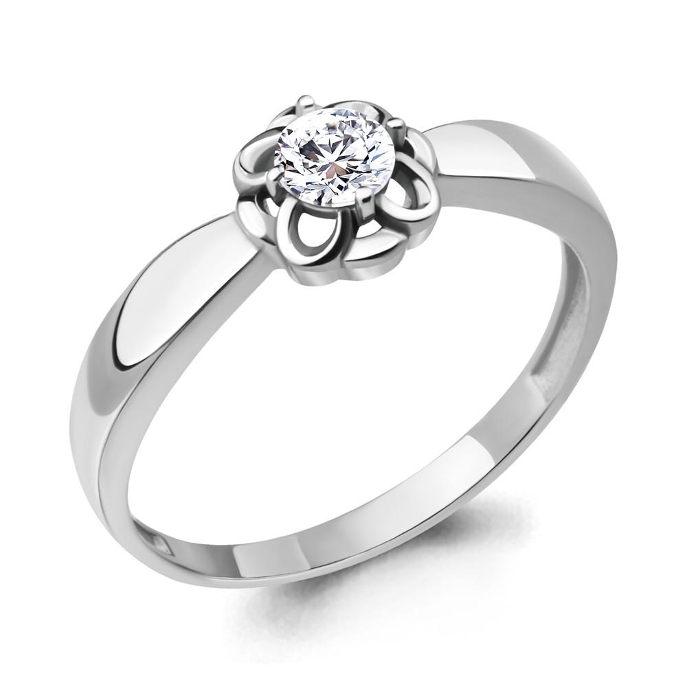 Серебряное кольцо с фианитом AQUAMARINE (#715219)