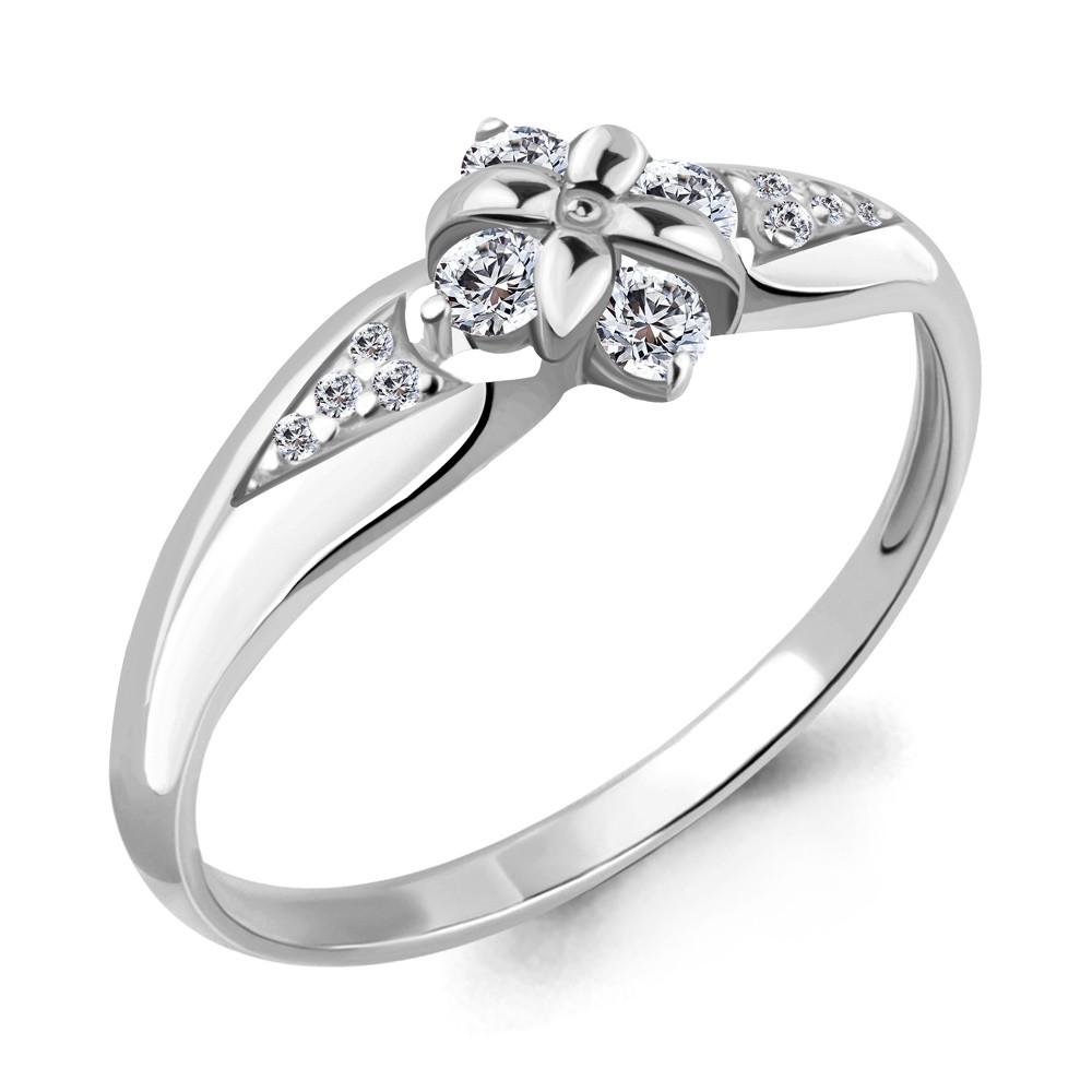 Серебряное кольцо с фианитом AQUAMARINE (#708764)