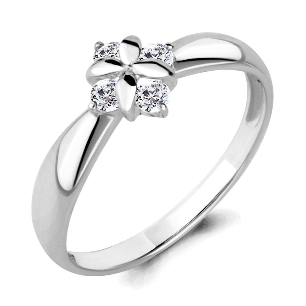 Серебряное кольцо с фианитом AQUAMARINE (#708787)