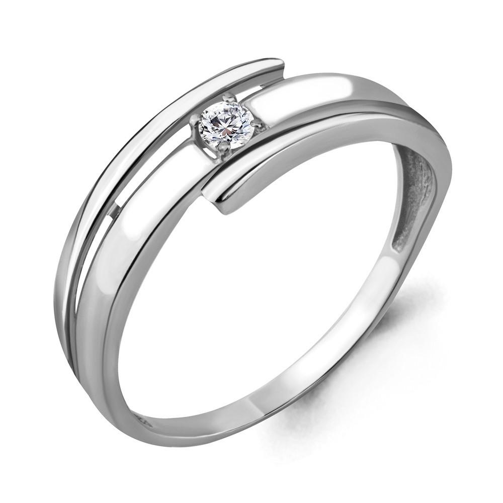 Серебряное кольцо с фианитом AQUAMARINE (#708763)