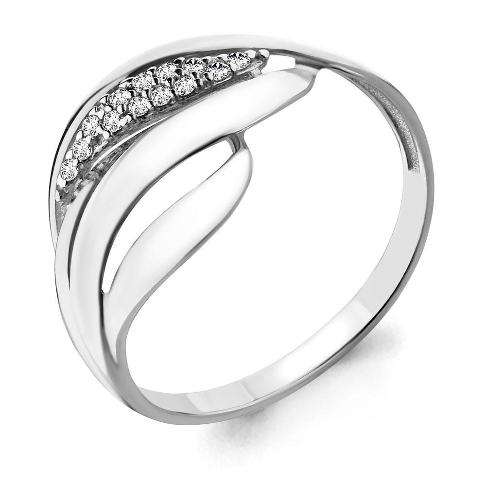 Серебряное кольцо с фианитом AQUAMARINE (#650094)