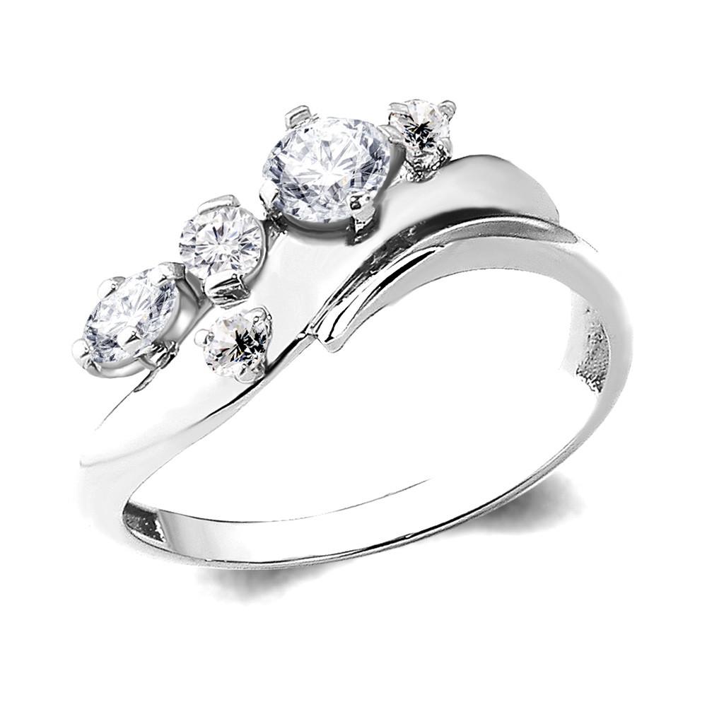 Серебряное кольцо с фианитом AQUAMARINE (#657281)