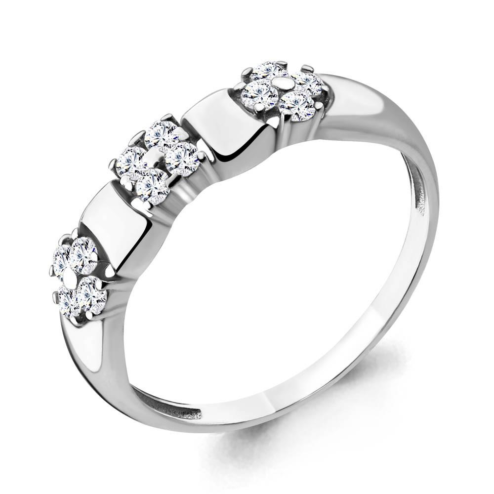 Серебряное кольцо с фианитом AQUAMARINE (#648848)