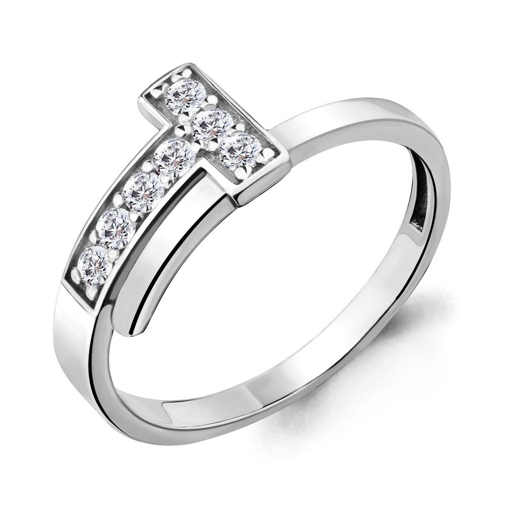 Серебряное кольцо с фианитом AQUAMARINE (#690019)