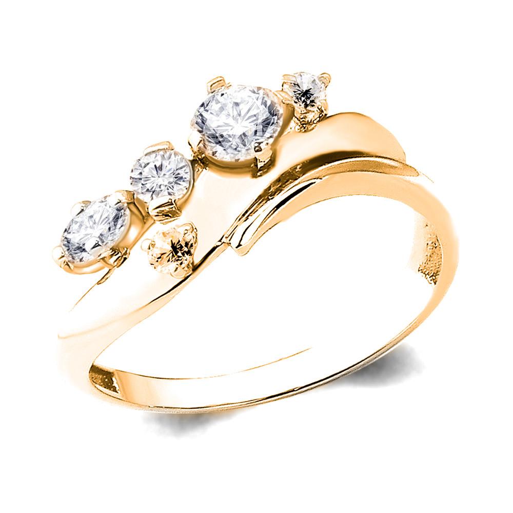 Серебряное кольцо с фианитом AQUAMARINE (#712249)