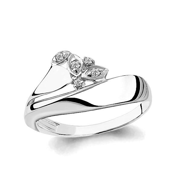 Серебряное кольцо с фианитом AQUAMARINE (#634891)
