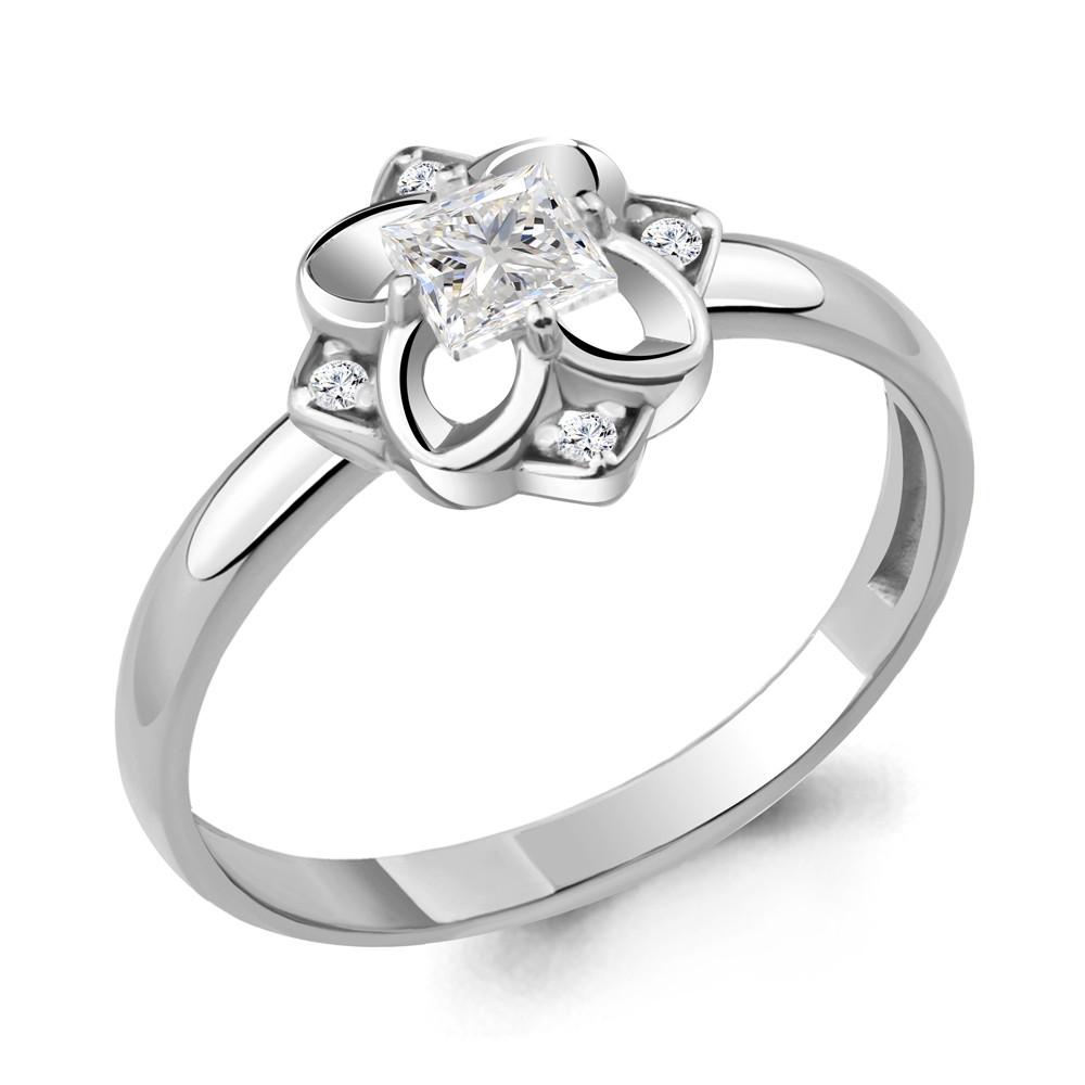 Серебряное кольцо с фианитом AQUAMARINE (#715222)