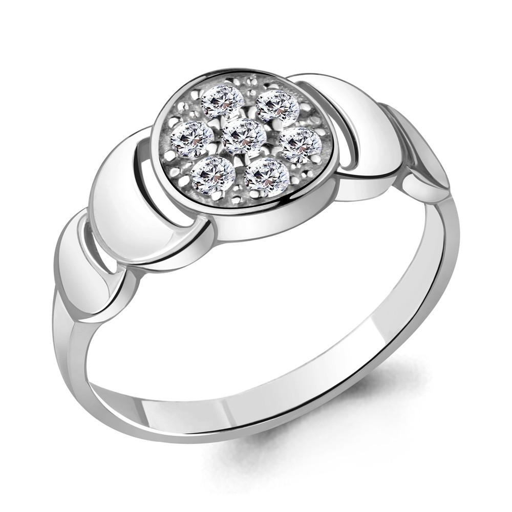 Серебряное кольцо с фианитом AQUAMARINE (#705675)