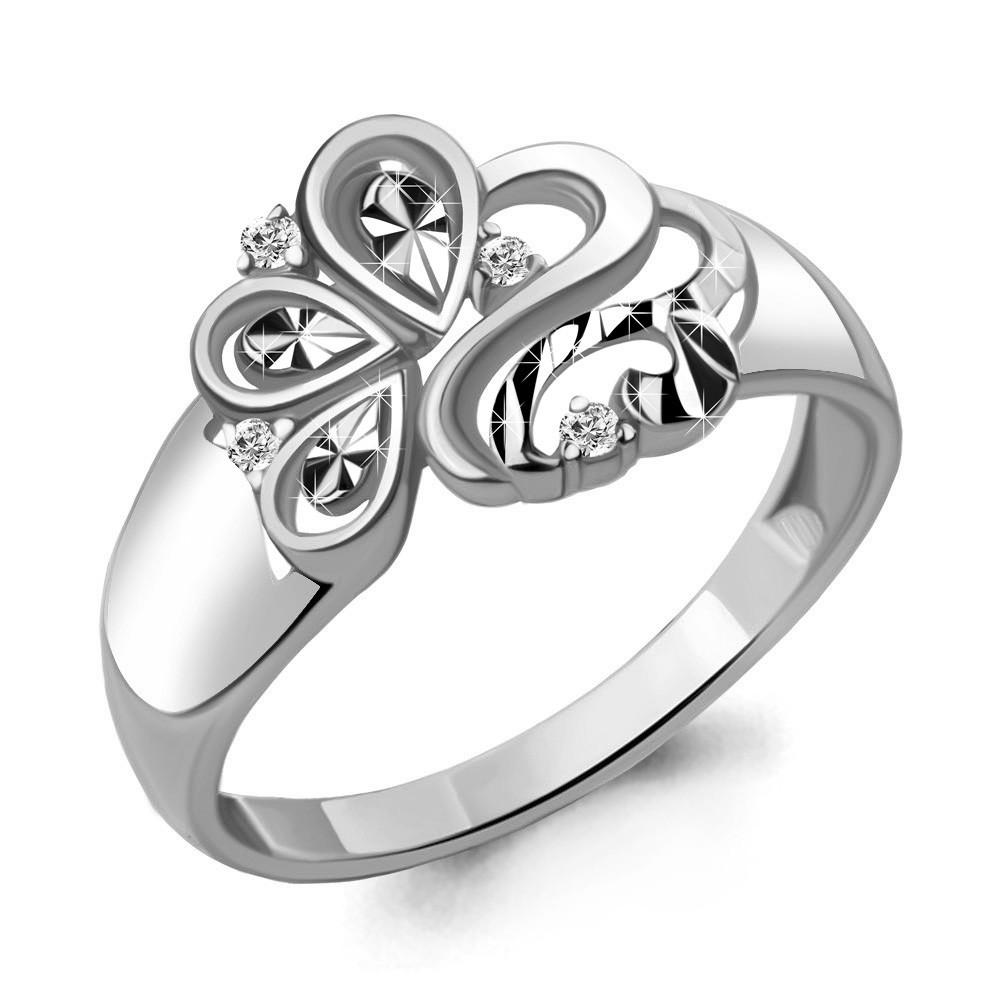Серебряное кольцо с фианитом AQUAMARINE (#715218)