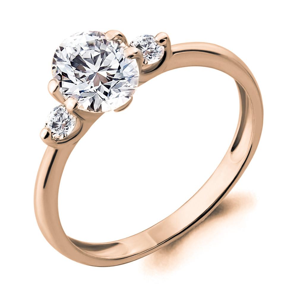 Серебряное кольцо с фианитом AQUAMARINE (#712122)