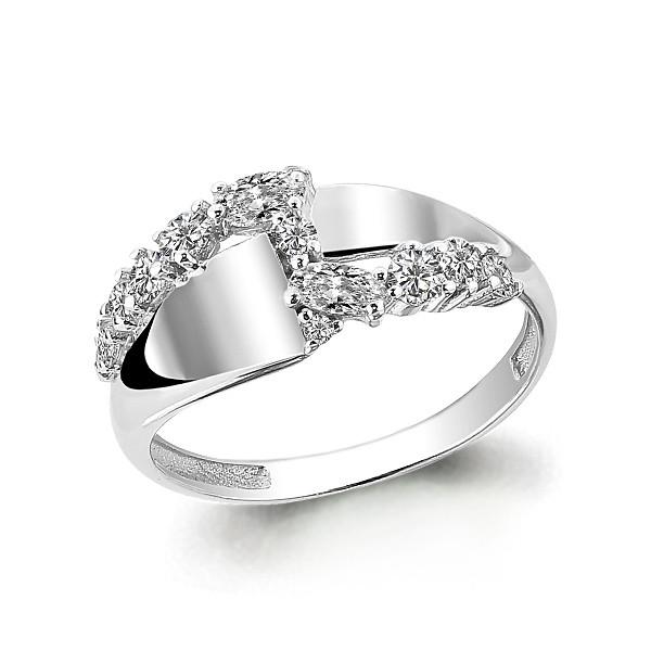 Серебряное кольцо с фианитом AQUAMARINE (#631729)