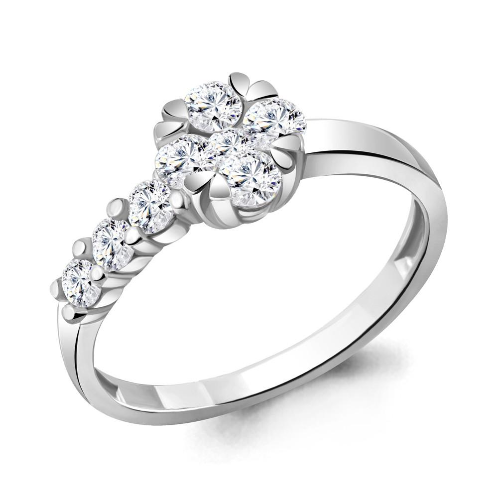Серебряное кольцо с фианитом AQUAMARINE (#711859)