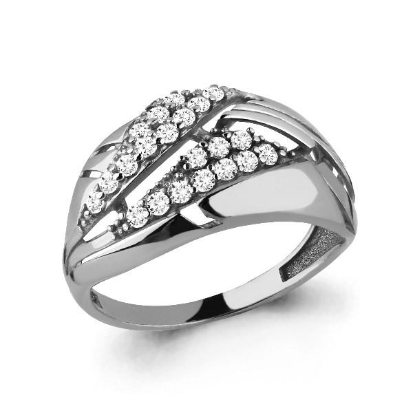 Серебряное кольцо с фианитом AQUAMARINE (#648847)