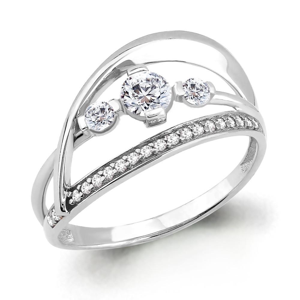 Серебряное кольцо с фианитом AQUAMARINE (#708786)