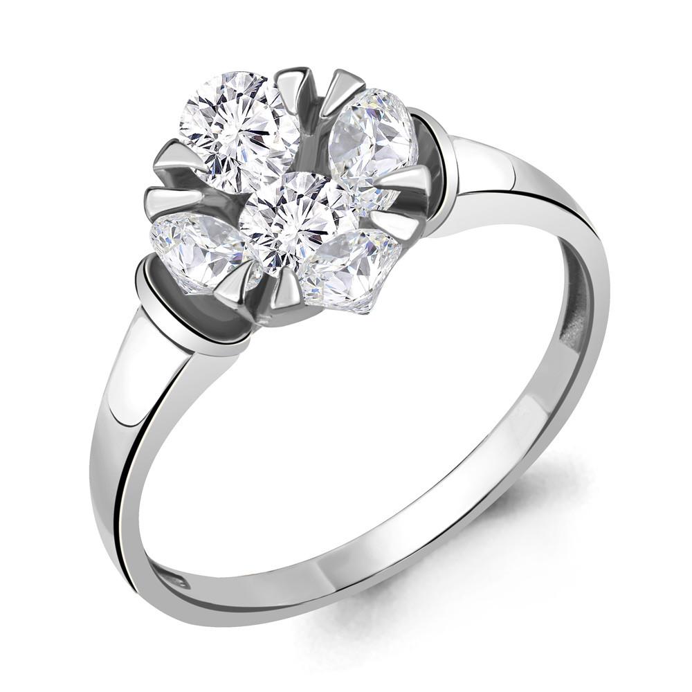 Серебряное кольцо с фианитом AQUAMARINE (#711843)