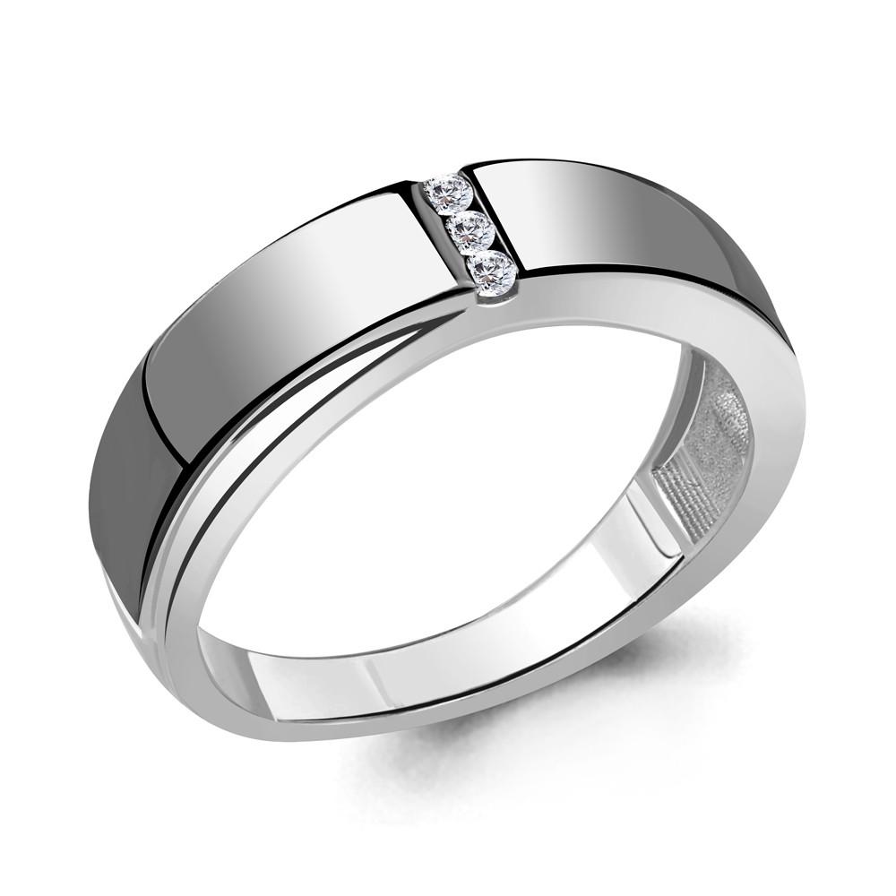 Серебряное кольцо с фианитом AQUAMARINE (#711840)