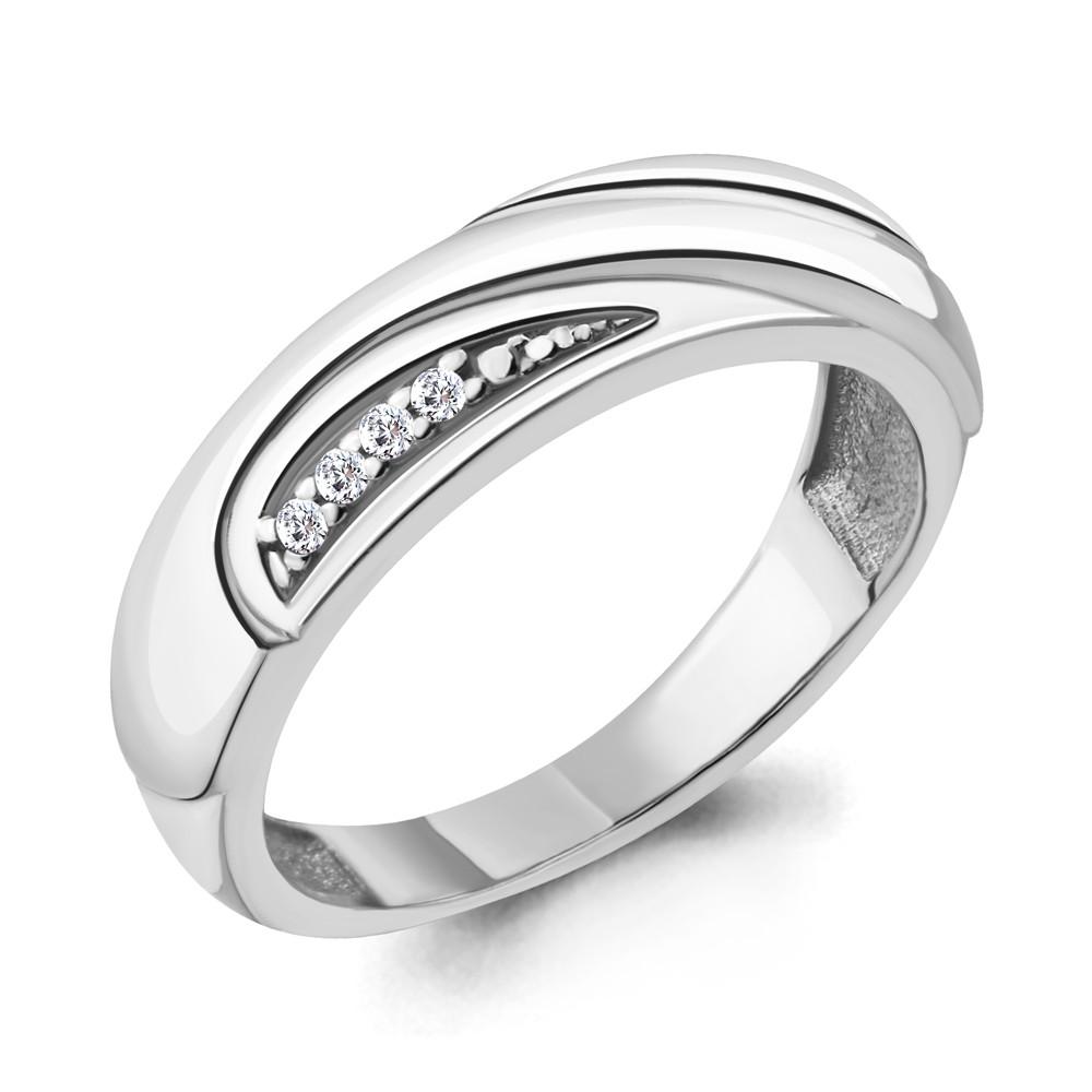 Серебряное кольцо с фианитом AQUAMARINE (#705685)