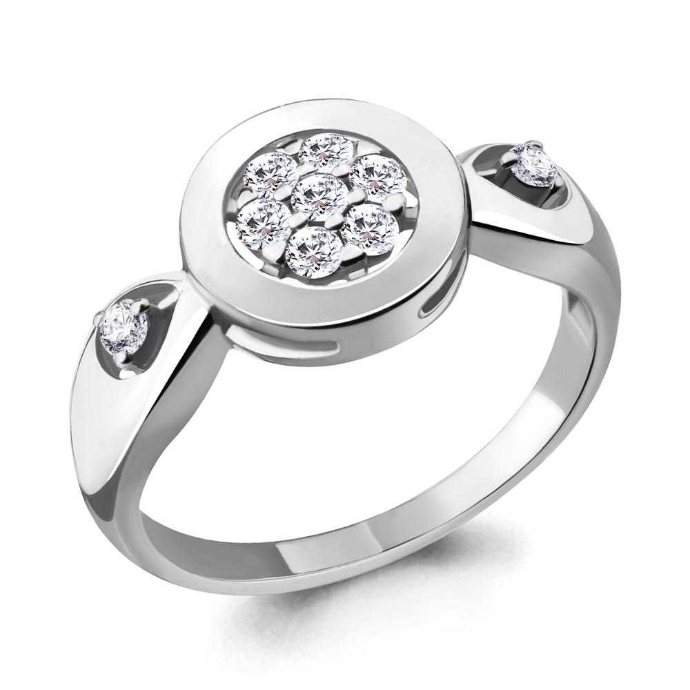 Серебряное кольцо с фианитом AQUAMARINE (#705228)