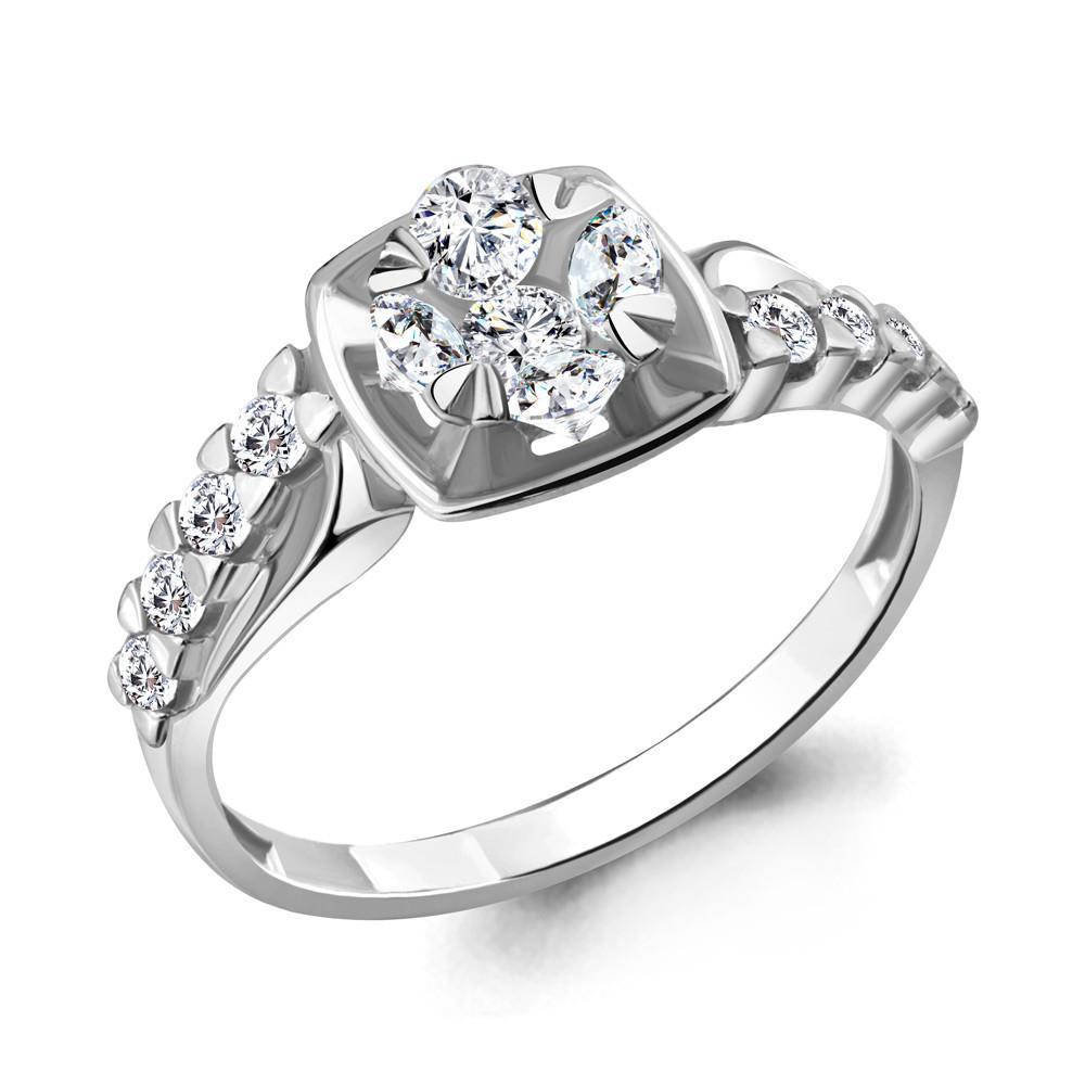 Серебряное кольцо с фианитом AQUAMARINE (#717233)