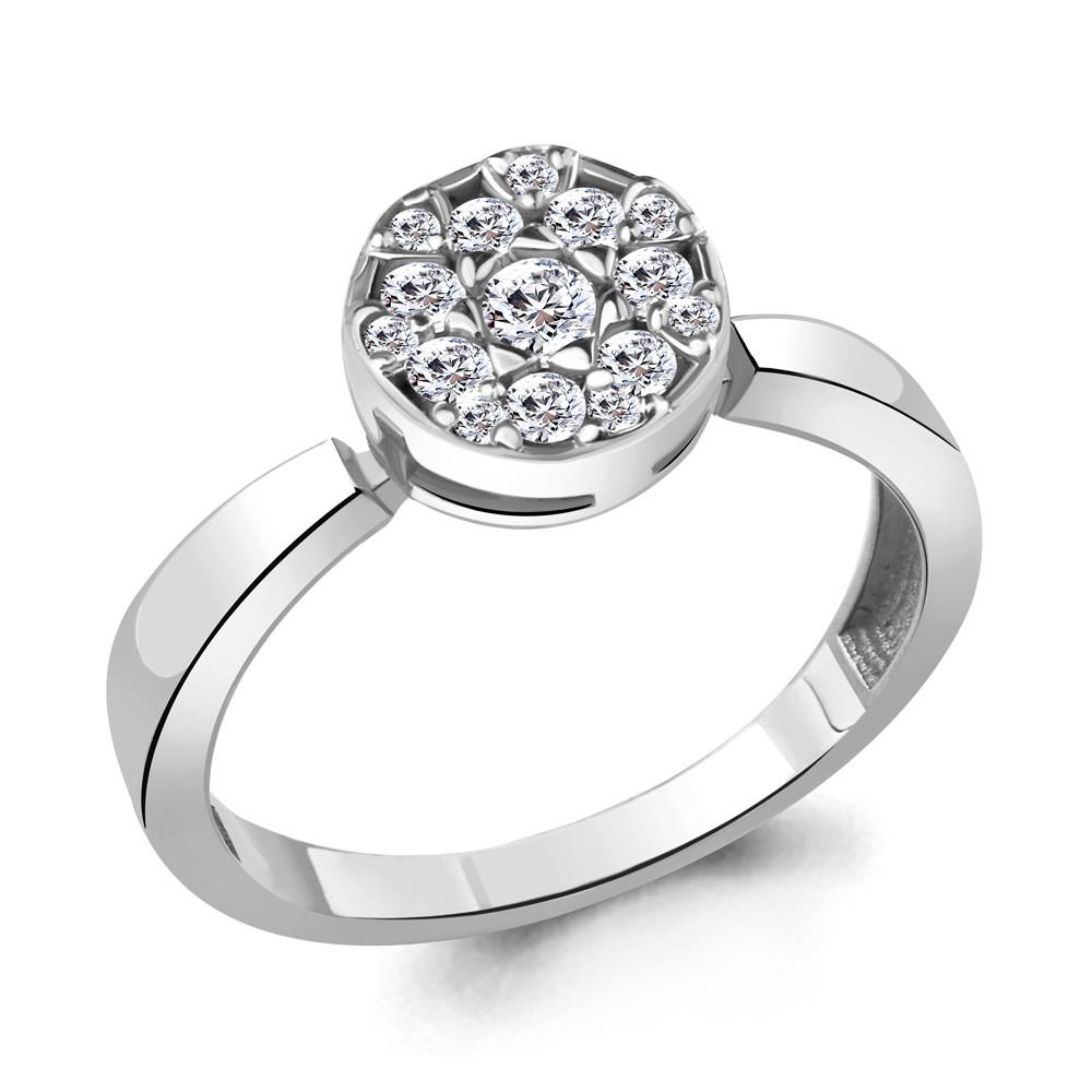 Серебряное кольцо с фианитом AQUAMARINE (#706426)