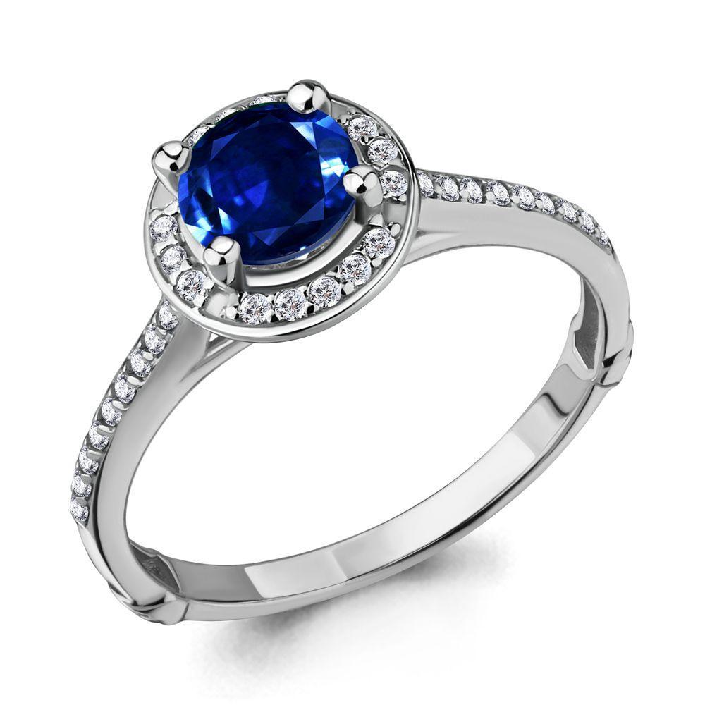 Серебряное кольцо с фианитом AQUAMARINE (#485127)