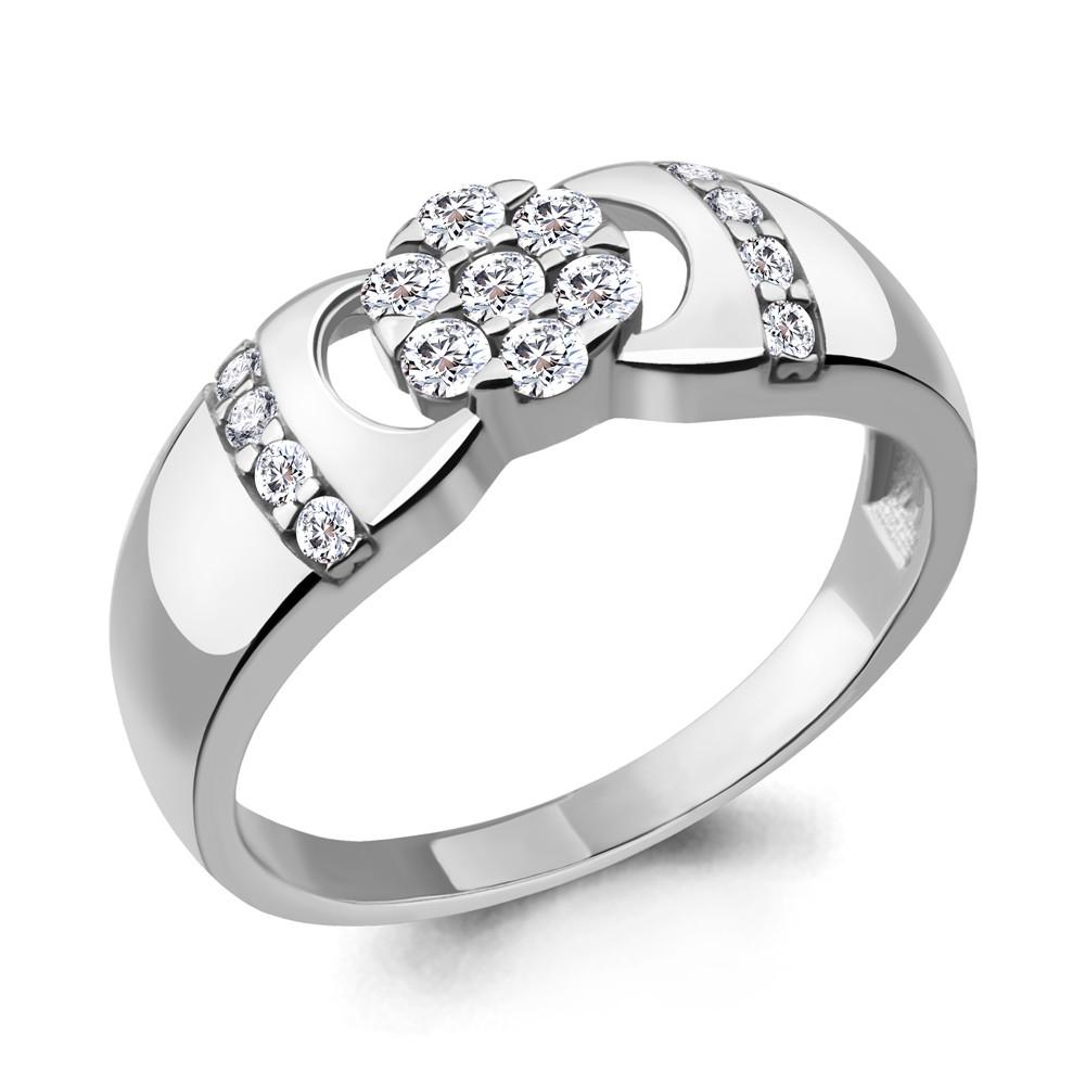 Серебряное кольцо с фианитом AQUAMARINE (#705232)