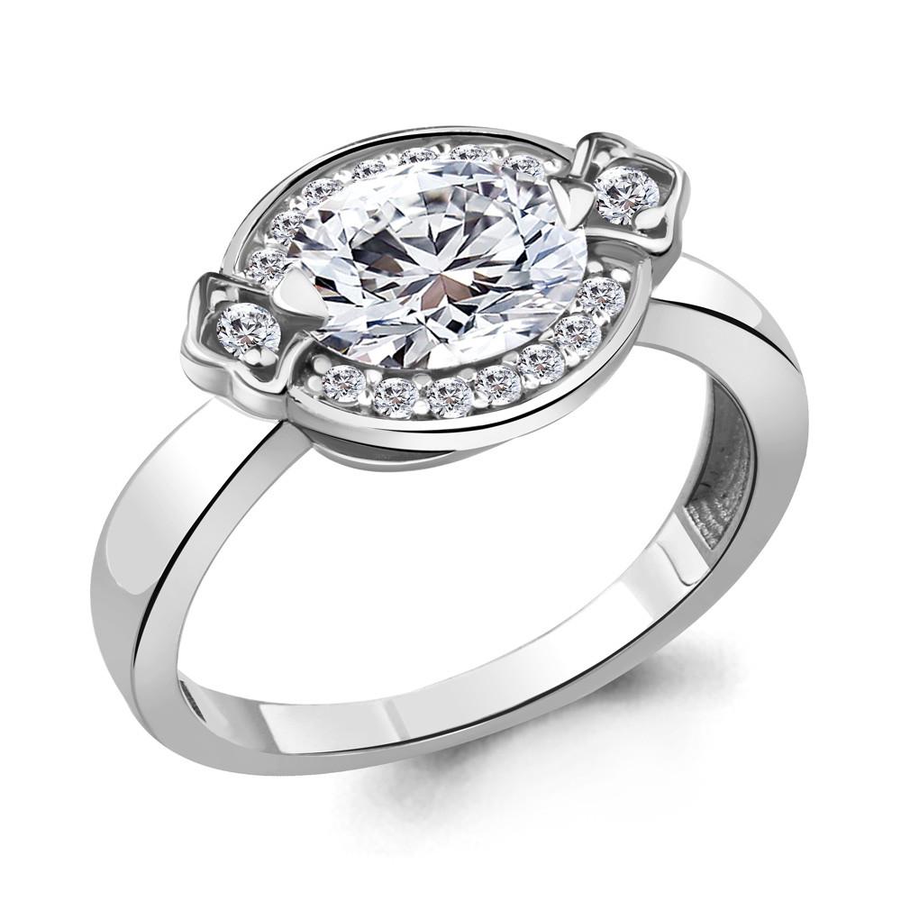 Серебряное кольцо с фианитом AQUAMARINE (#705233)