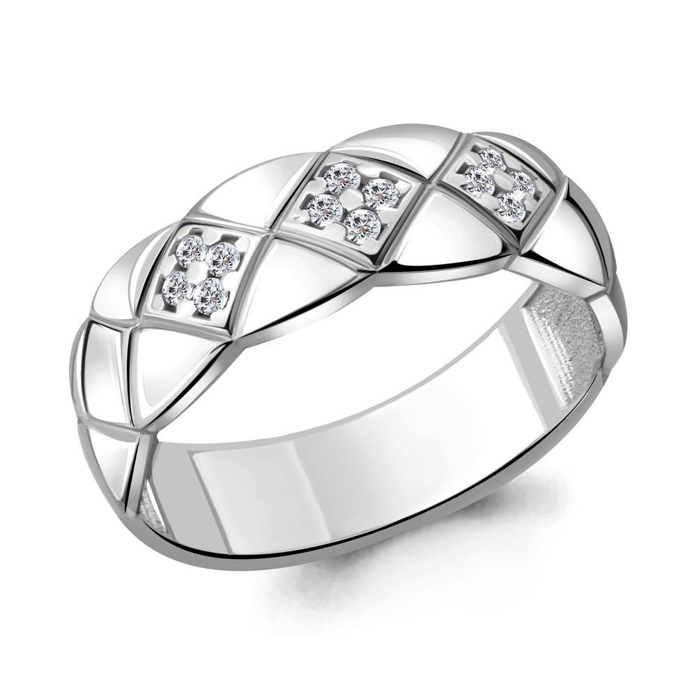 Серебряное кольцо с фианитом AQUAMARINE (#705673)