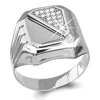Серебряное кольцо с фианитом AQUAMARINE (#578681)