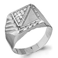 Серебряное кольцо с фианитом AQUAMARINE (#712229)