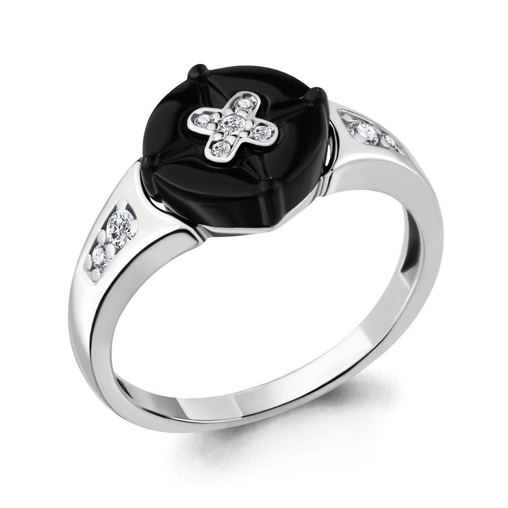 Серебряное кольцо с фианитом AQUAMARINE (#711642)