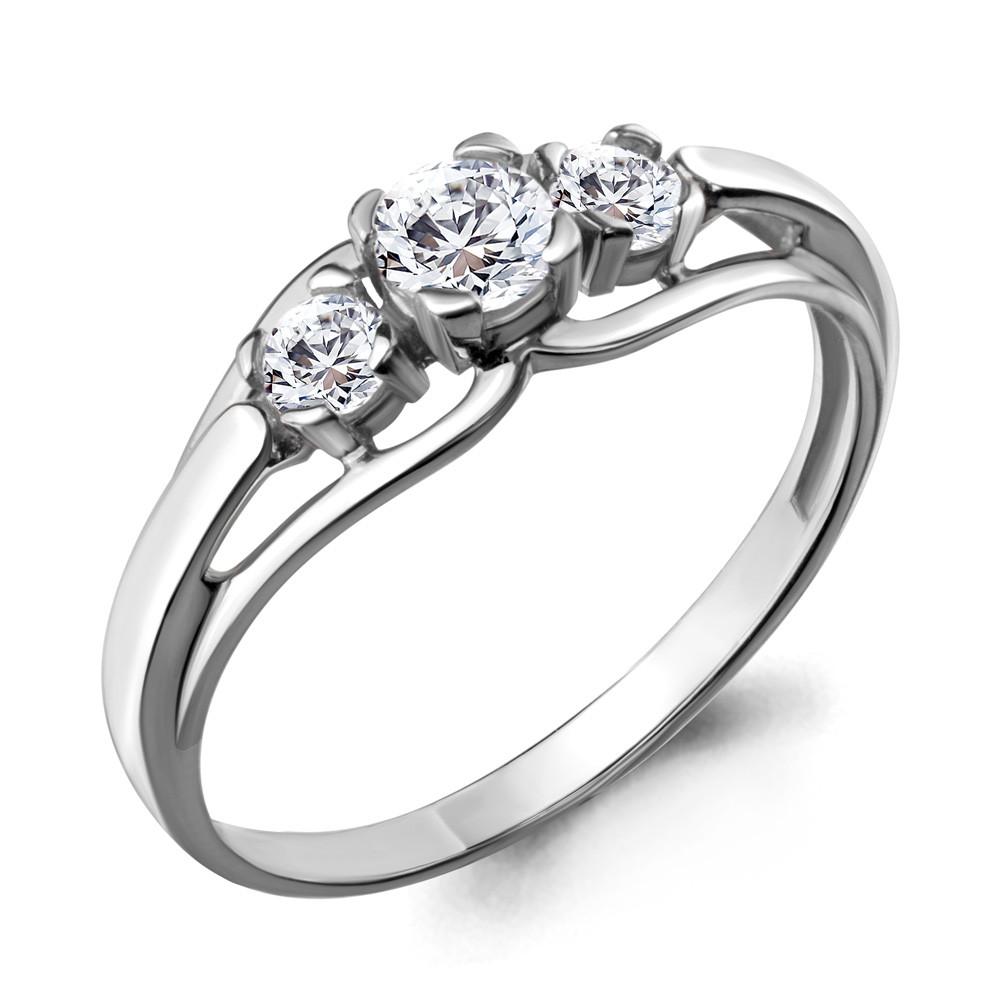 Серебряное кольцо с фианитом swarovski AQUAMARINE (#711483)