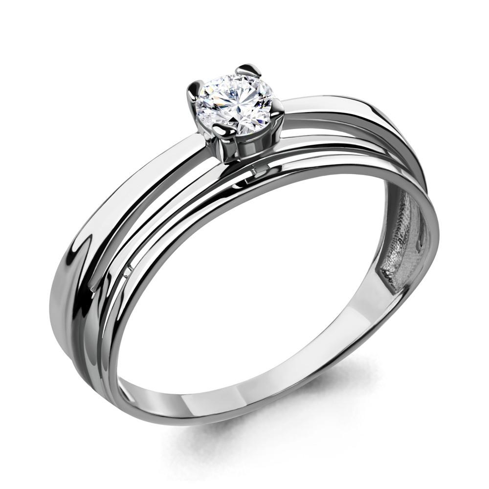 Серебряное кольцо с фианитом swarovski AQUAMARINE (#708745)