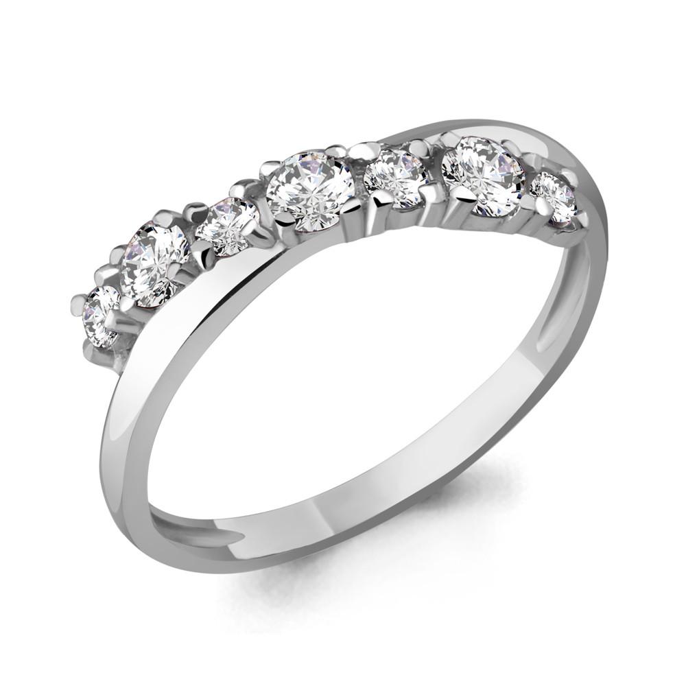 Серебряное кольцо с фианитом swarovski AQUAMARINE (#708742)